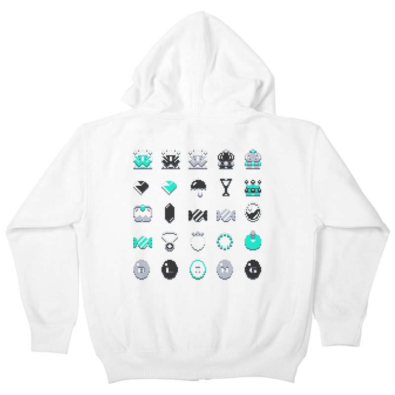 8-Bit Bling Kids Zip-Up Hoody by Spires Artist Shop