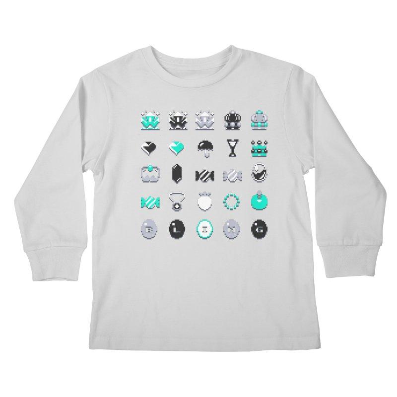 8-Bit Bling Kids Longsleeve T-Shirt by Spires Artist Shop
