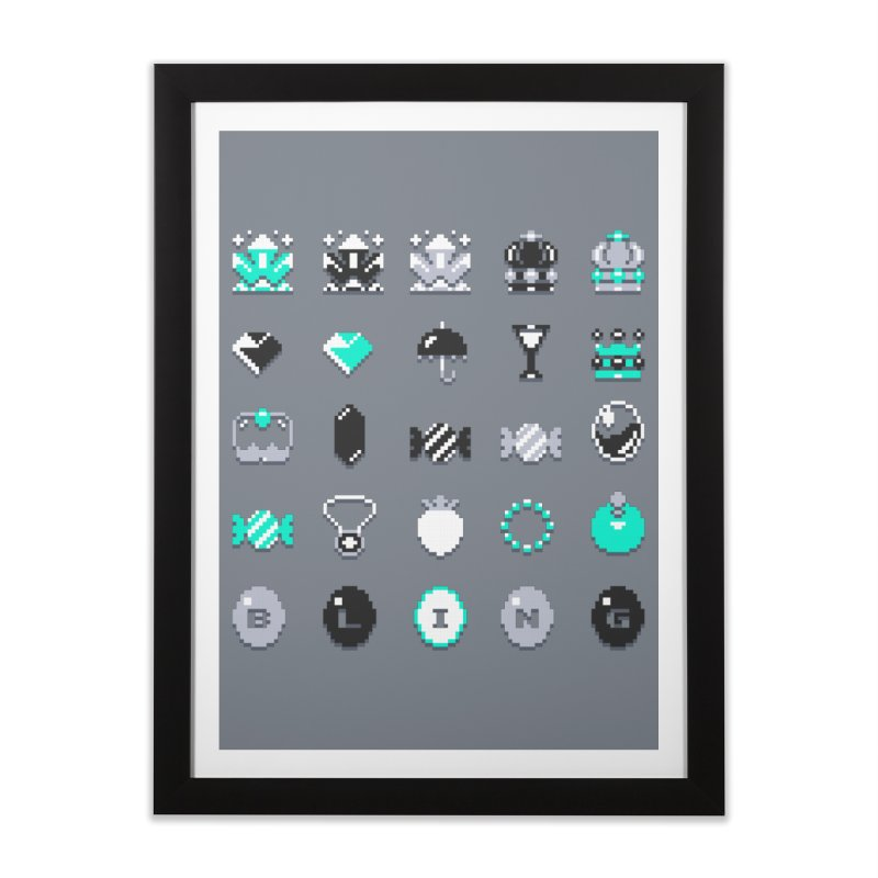 8-Bit Bling Home Framed Fine Art Print by Spires Artist Shop