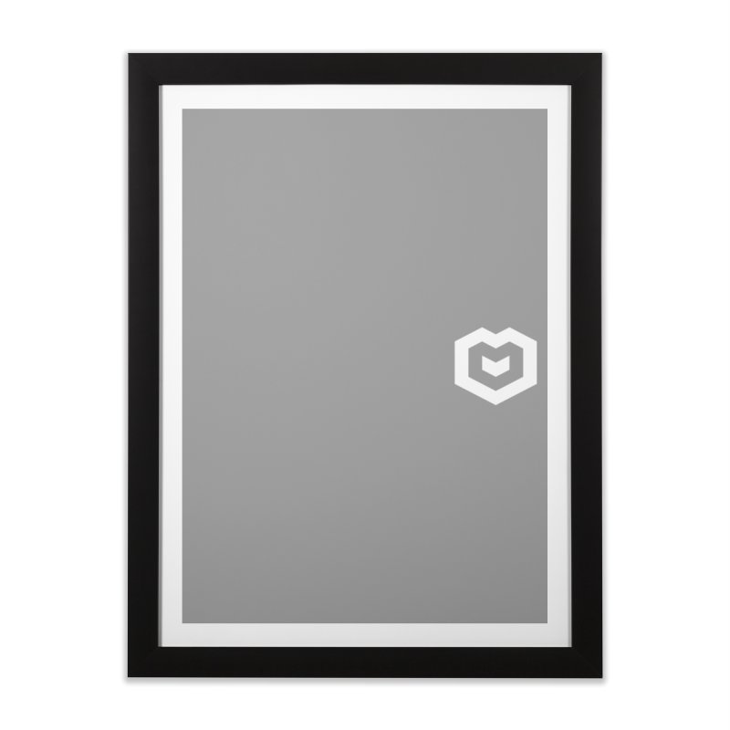 Isometric Heart Small Home Framed Fine Art Print by Spires Artist Shop