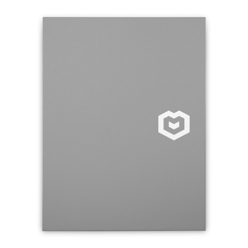 Isometric Heart Small Home Stretched Canvas by Spires Artist Shop