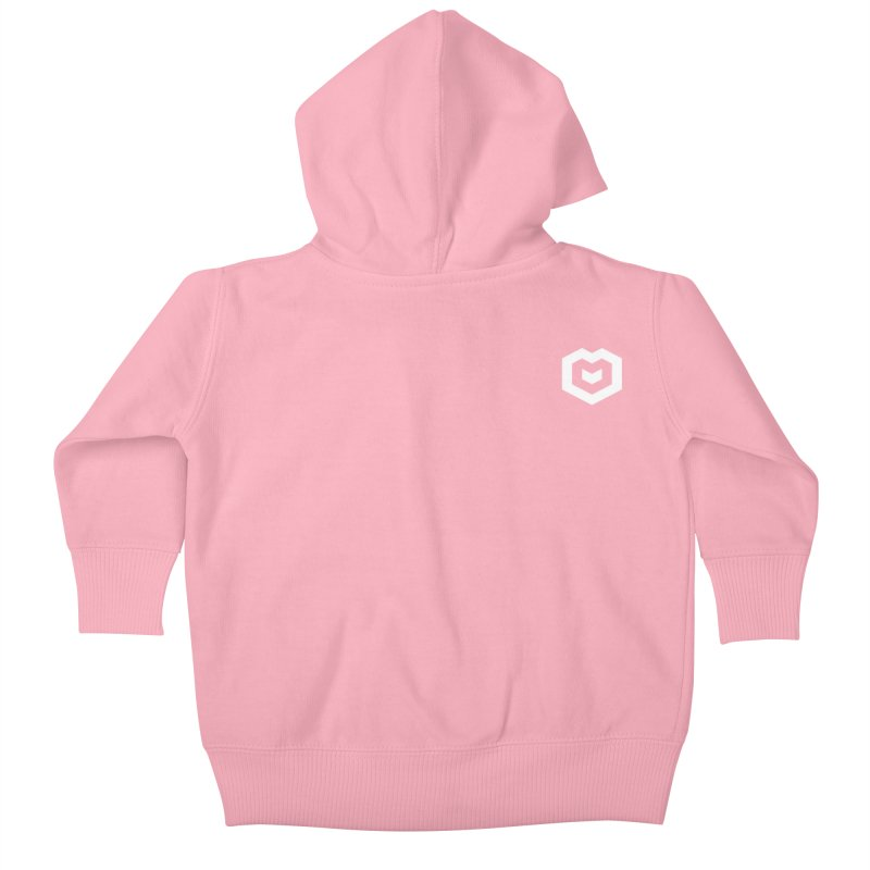 Isometric Heart Small Kids Baby Zip-Up Hoody by Spires Artist Shop