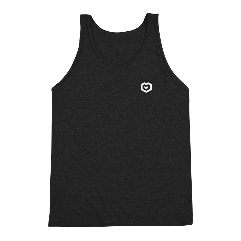 Isometric Heart Small Men's Triblend Tank by Spires Artist Shop