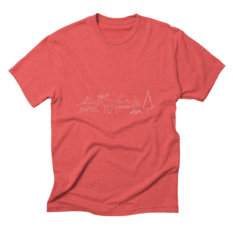 Camping Men's Triblend T-Shirt by spirit animal