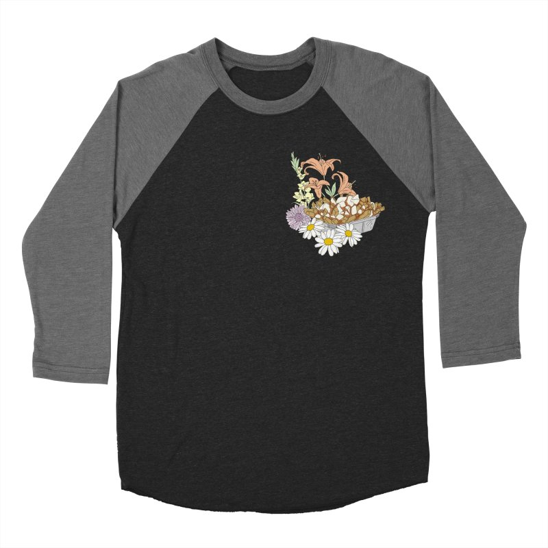 poutine Women's Baseball Triblend T-Shirt by spirit animal