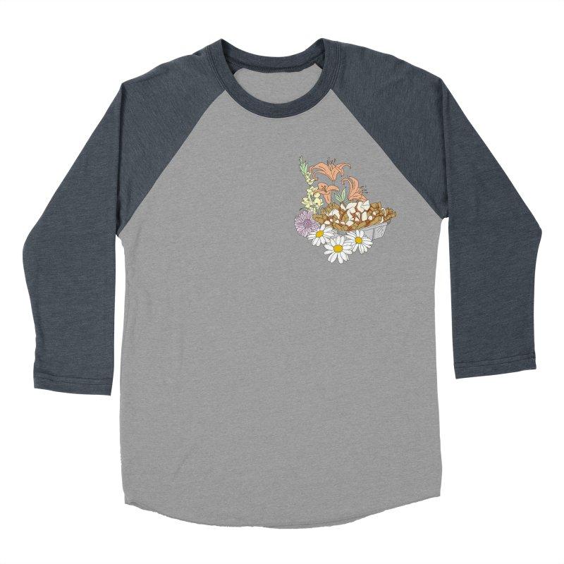 poutine Women's Baseball Triblend T-Shirt by spirit animal