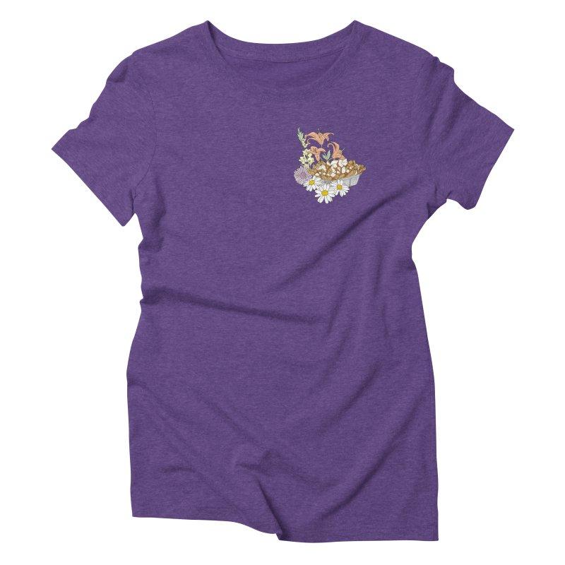 poutine Women's Triblend T-shirt by spirit animal