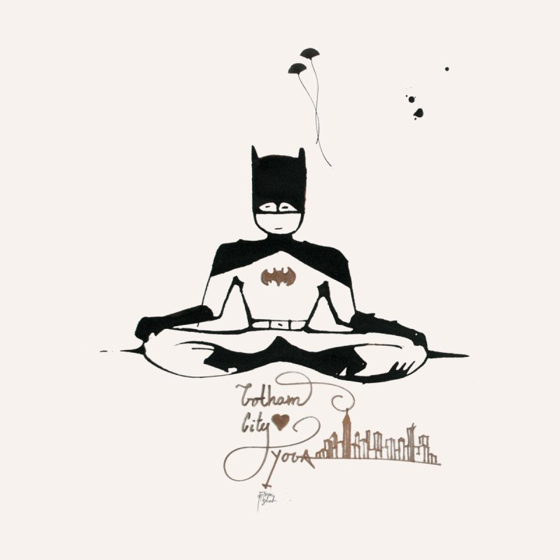 Where Batman gets his superpowers from? Meditation! by spiritualrhino's Artist Shop