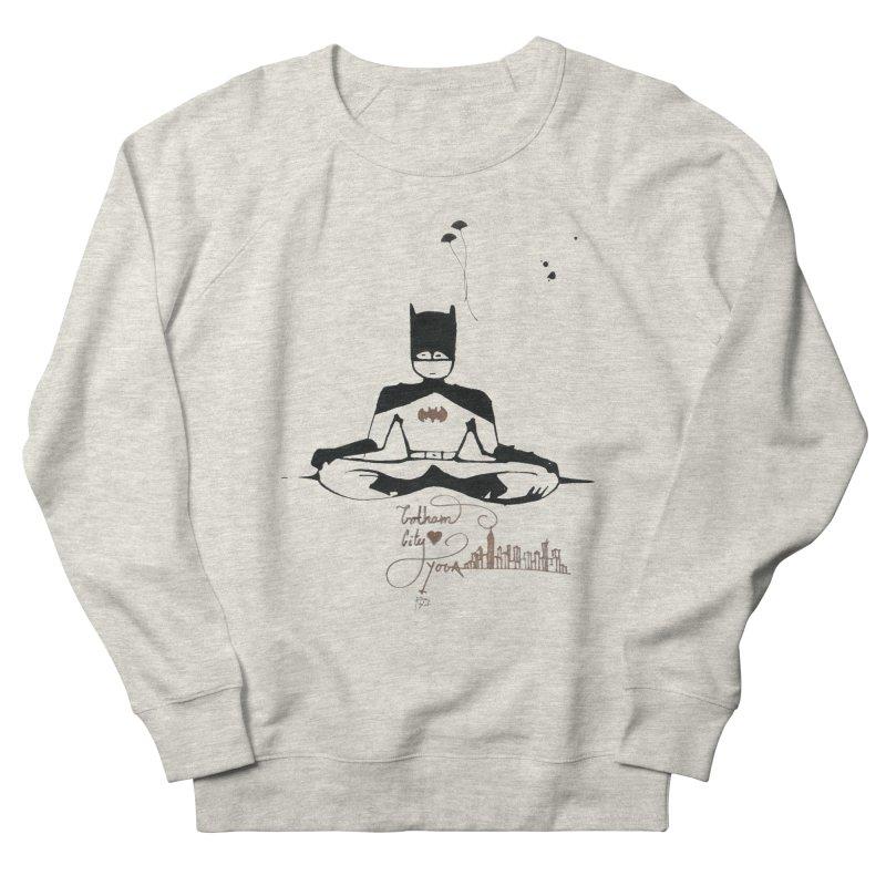 Where Batman gets his superpowers from? Meditation! Men's Sweatshirt by spiritualrhino's Artist Shop