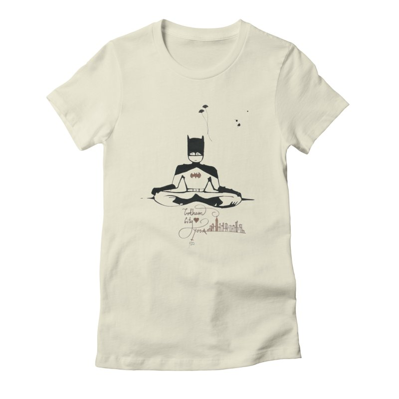 Where Batman gets his superpowers from? Meditation! Women's Fitted T-Shirt by spiritualrhino's Artist Shop