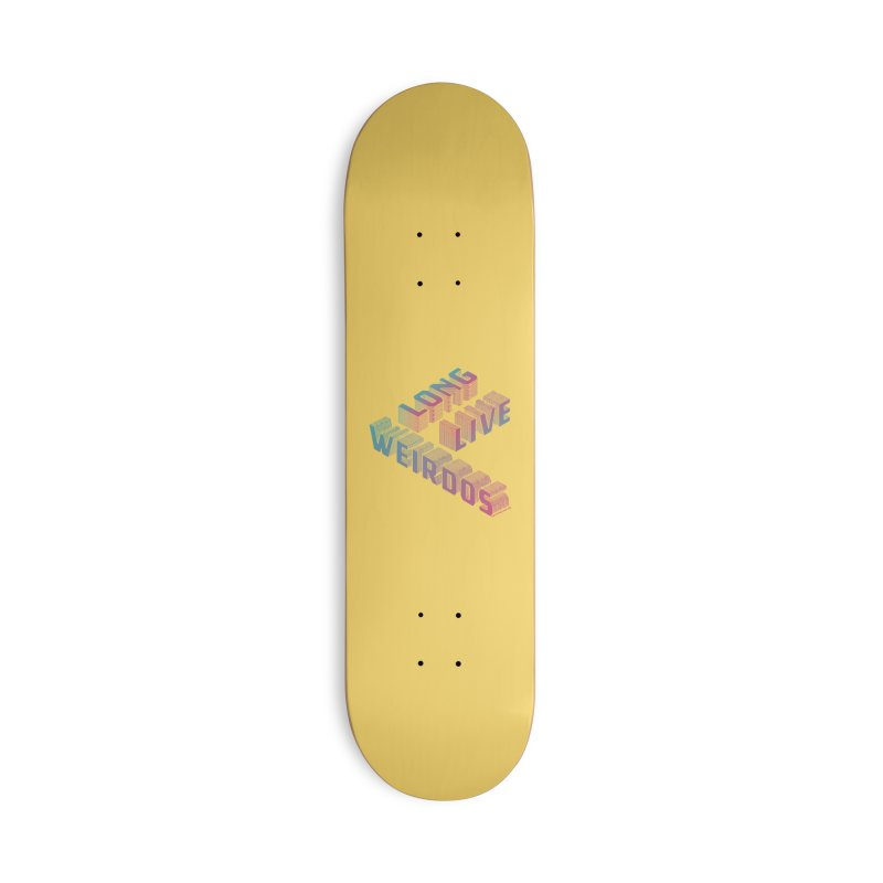Long Live Weirdos in Deck Only Skateboard by SPIT polish New Creative Review