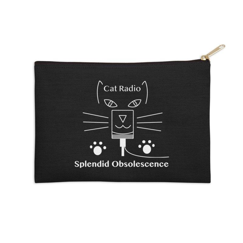 Cat Radio Album Cover - Splendid Obsolescence Accessories Zip Pouch by Splendid Obsolescence