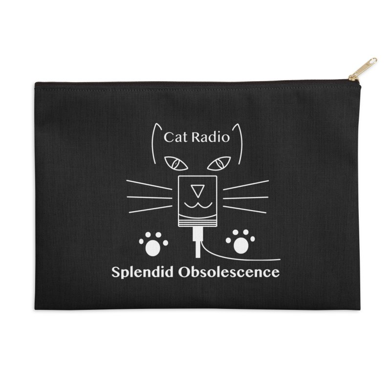 Cat Radio Album Cover - Splendid Obsolescence Accessories Zip Pouch by Splendid Obsolescence