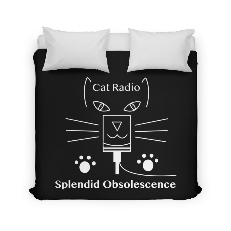 Cat Radio Album Cover - Splendid Obsolescence Home Duvet by Splendid Obsolescence
