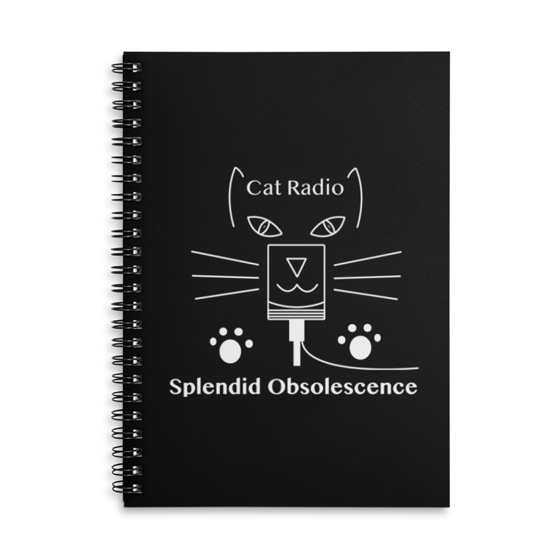 Cat Radio Album Cover - Splendid Obsolescence Accessories Lined Spiral Notebook by Splendid Obsolescence