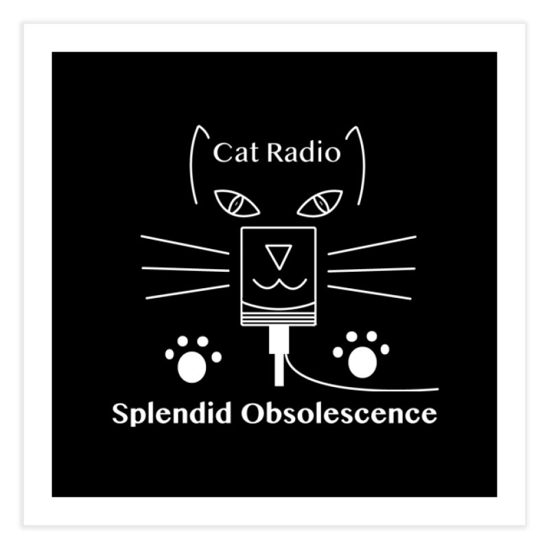 Cat Radio Album Cover - Splendid Obsolescence Home Fine Art Print by Splendid Obsolescence