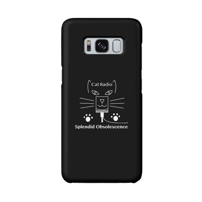 Cat Radio Album Cover - Splendid Obsolescence Accessories Phone Case by Splendid Obsolescence