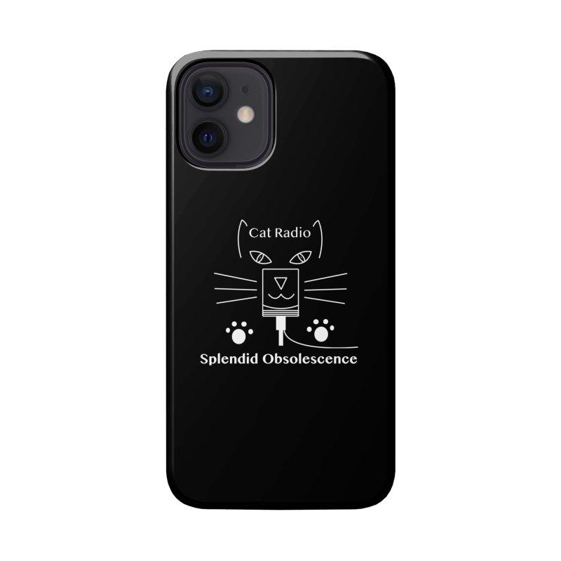 Cat Radio Album Cover - Splendid Obsolescence Accessories Phone Case by Splendid Obsolescence