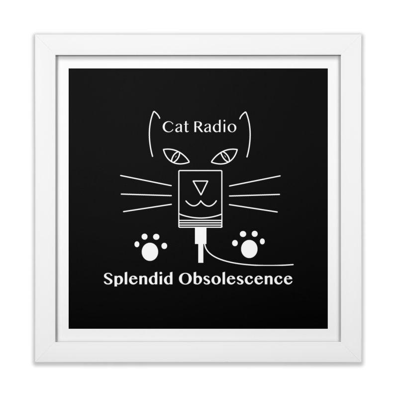 Cat Radio Album Cover - Splendid Obsolescence Home Framed Fine Art Print by Splendid Obsolescence