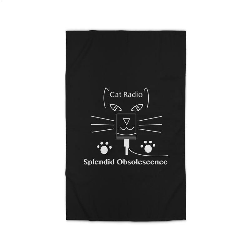 Cat Radio Album Cover - Splendid Obsolescence Home Rug by Splendid Obsolescence