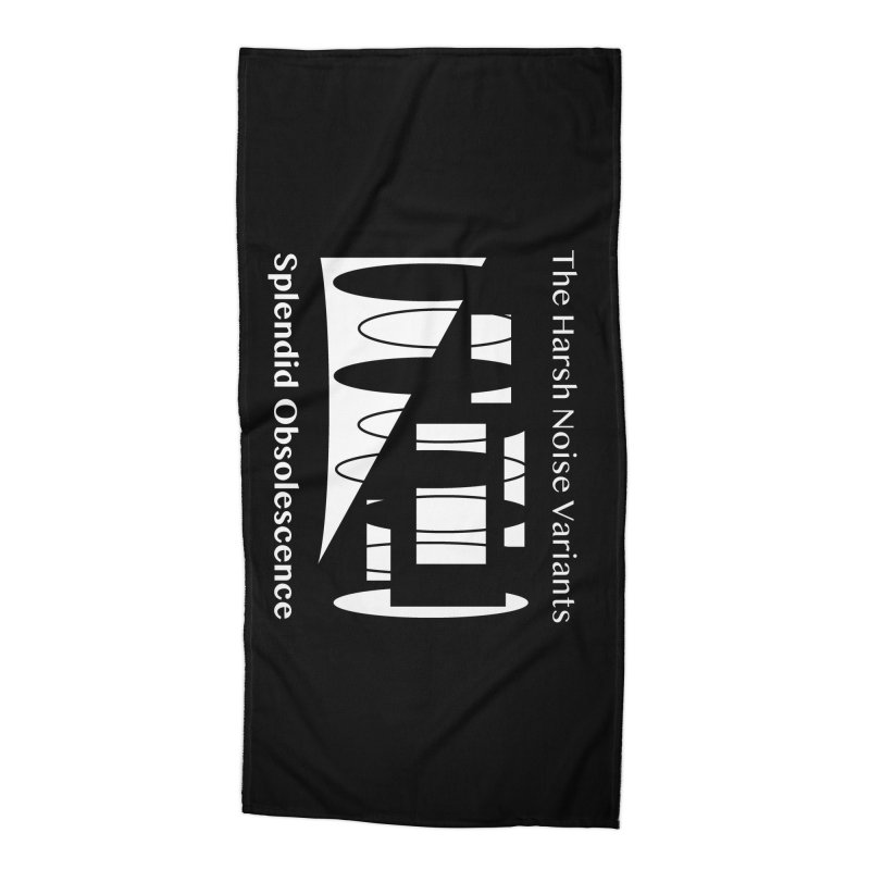 The Harsh Noise Variants Album Cover - Splendid Obsolescence Accessories Beach Towel by Splendid Obsolescence