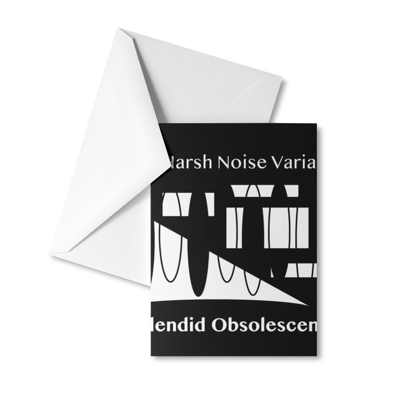 The Harsh Noise Variants Album Cover - Splendid Obsolescence Accessories Greeting Card by Splendid Obsolescence