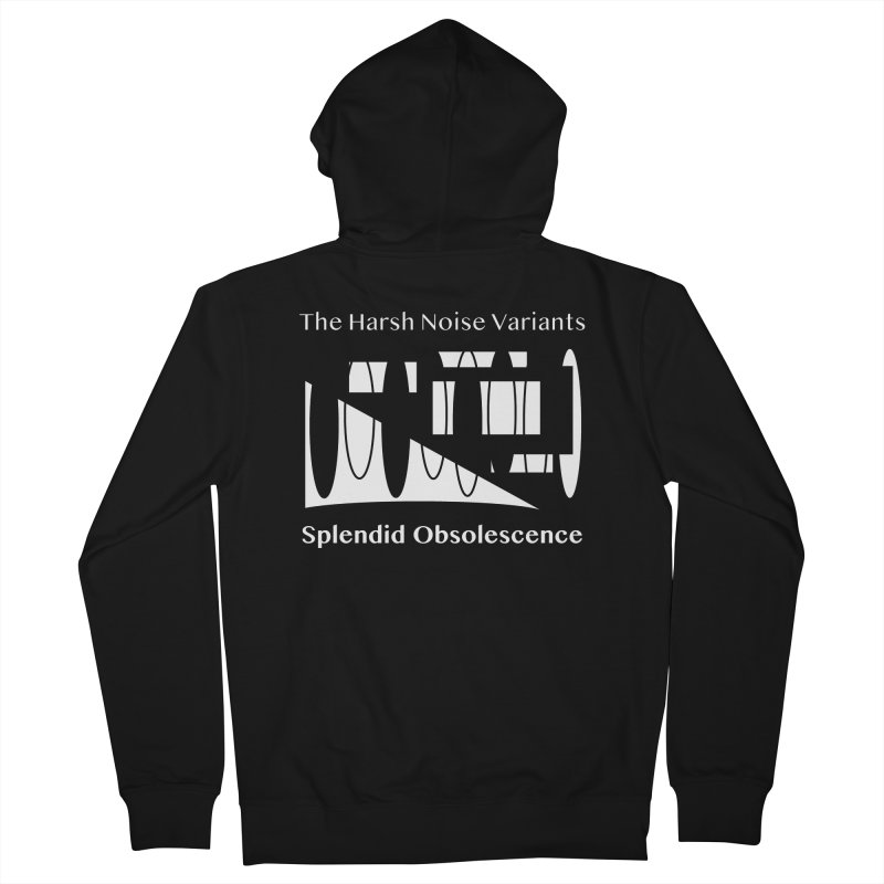 The Harsh Noise Variants Album Cover - Splendid Obsolescence Women's French Terry Zip-Up Hoody by Splendid Obsolescence