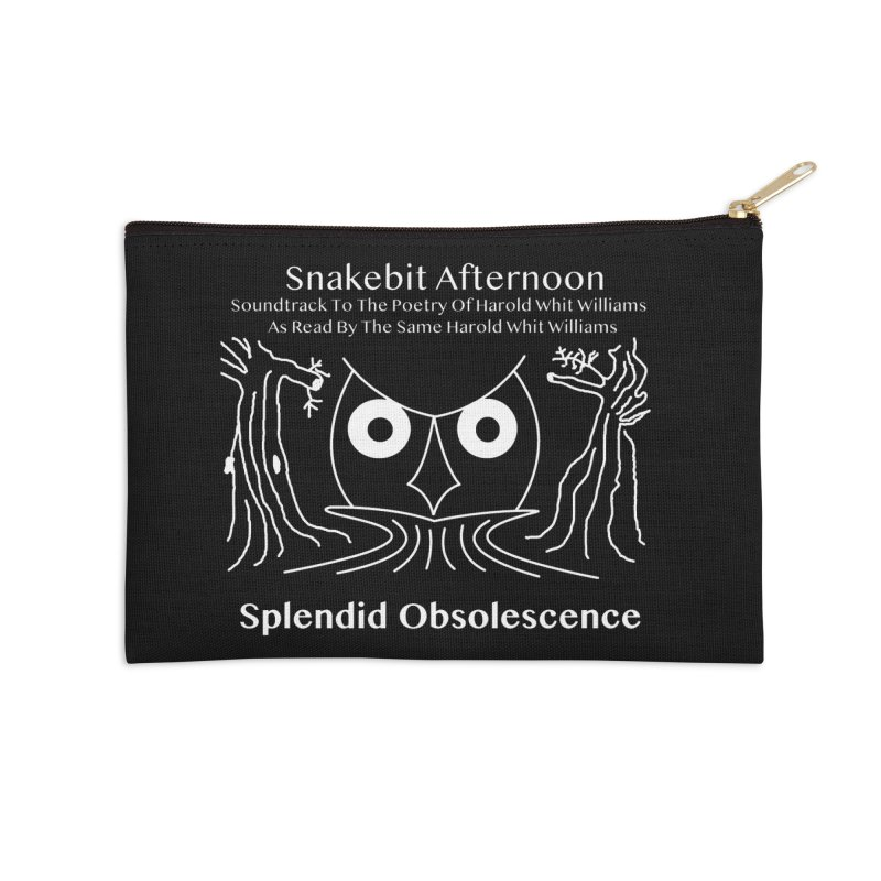 Snakebit Afternoon Album Cover - Splendid Obsolescence and Harold Whit Williams Accessories Zip Pouch by Splendid Obsolescence