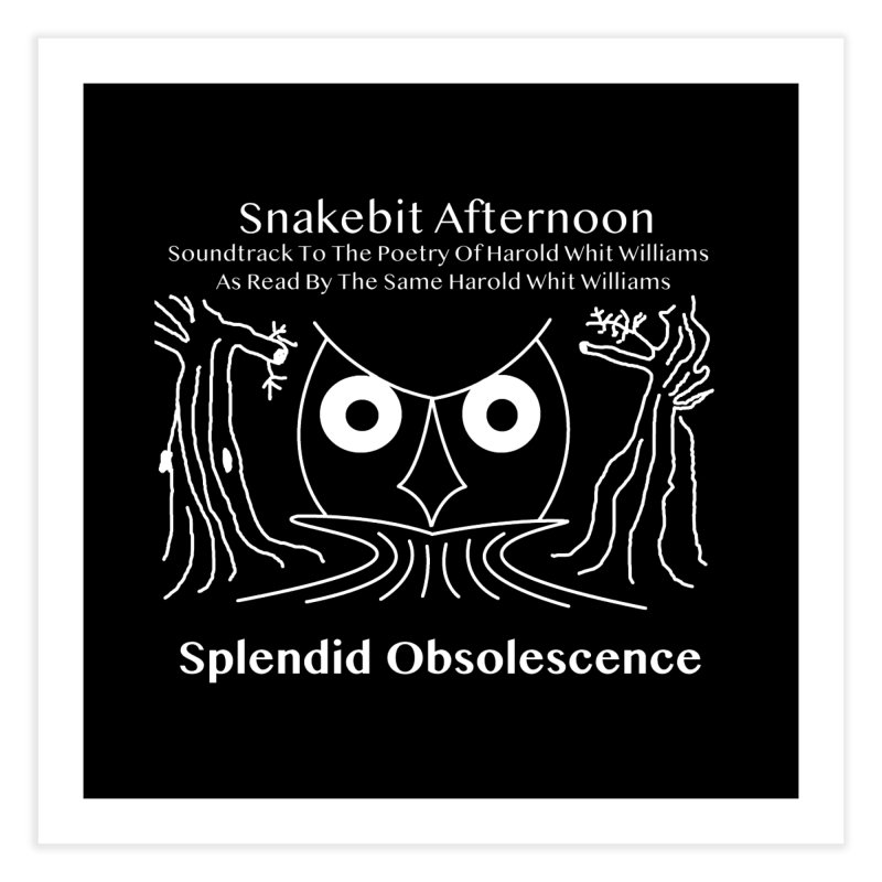 Snakebit Afternoon Album Cover - Splendid Obsolescence and Harold Whit Williams Home Fine Art Print by Splendid Obsolescence