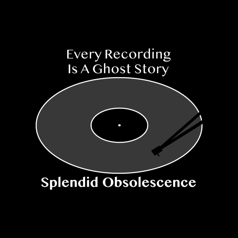 Every Recording Is A Ghost Story Album Cover - Splendid Obsolescence Accessories Notebook by Splendid Obsolescence