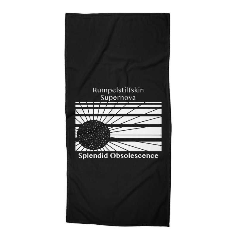 Rumpelstiltskin Supernova Album Cover - Splendid Obsolescence Accessories Beach Towel by Splendid Obsolescence