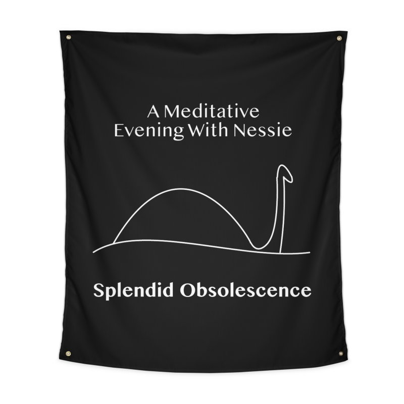 A Meditative Evening With Nessie Album Cover - Splendid Obsolescence Home Tapestry by Splendid Obsolescence