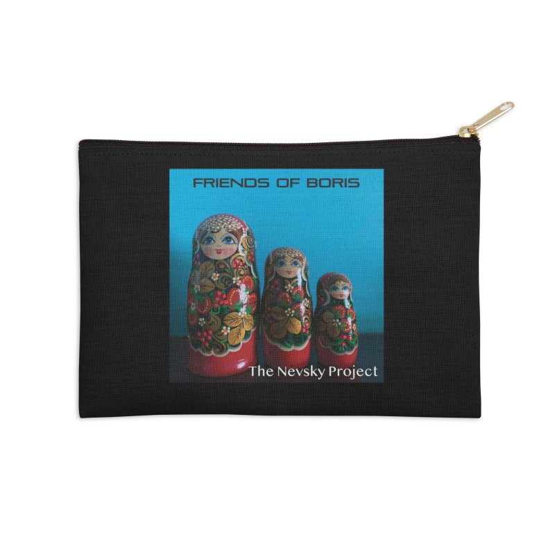 The Nevsky Project Album Cover - Friends of Boris Accessories Zip Pouch by Splendid Obsolescence