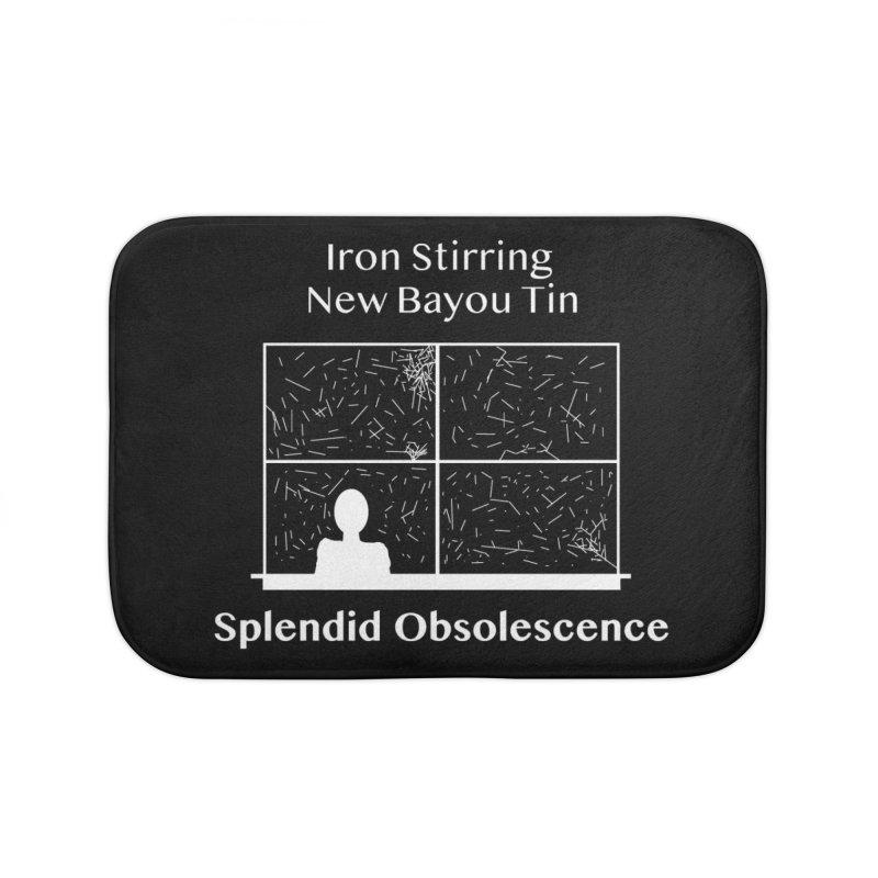 Iron Stirring New Bayou Tin Album Cover - Splendid Obsolescence Home Bath Mat by Splendid Obsolescence