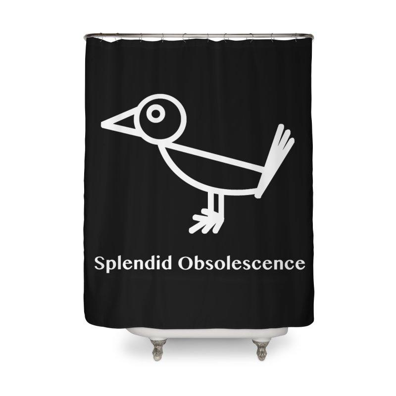 Snowbird Logo - Splendid Obsolescence Home Shower Curtain by Splendid Obsolescence