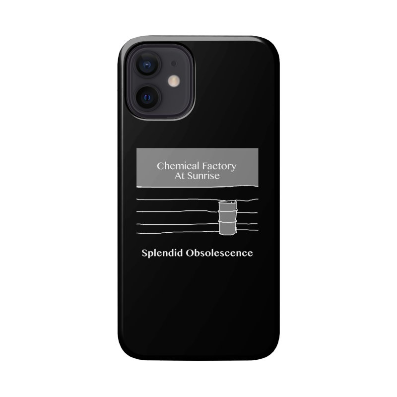 Chemical Factory At Sunrise Album Cover - Splendid Obsolescence Accessories Phone Case by Splendid Obsolescence