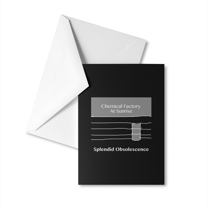 Chemical Factory At Sunrise Album Cover - Splendid Obsolescence Accessories Greeting Card by Splendid Obsolescence