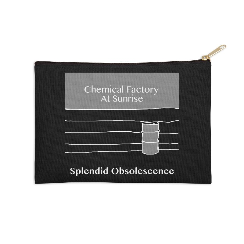 Chemical Factory At Sunrise Album Cover - Splendid Obsolescence Accessories Zip Pouch by Splendid Obsolescence