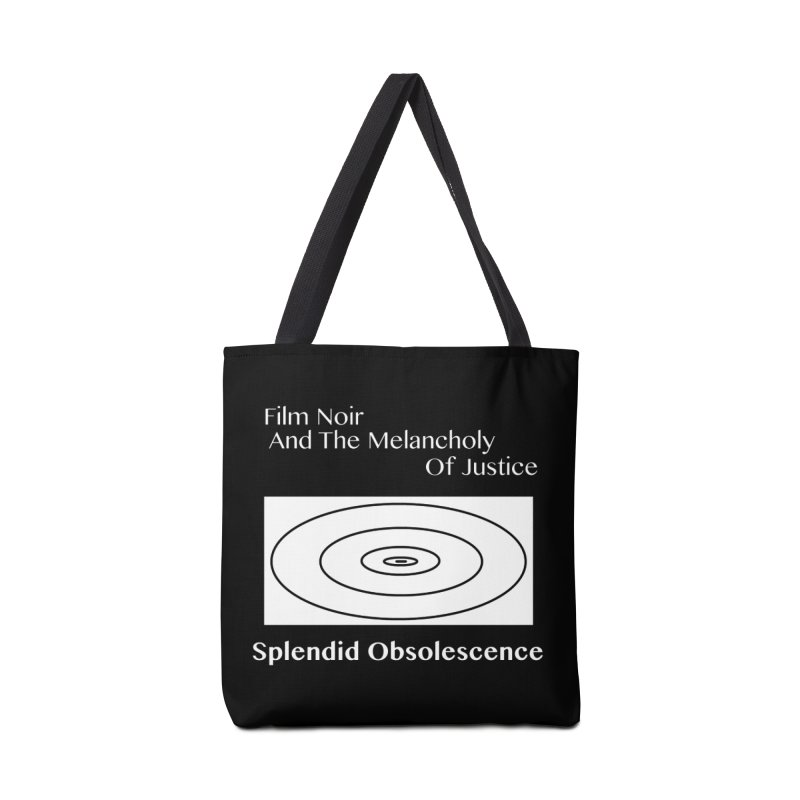 Film Noir And The Melancholy of Justice Album Cover - Splendid Obsolescence Accessories Bag by Splendid Obsolescence