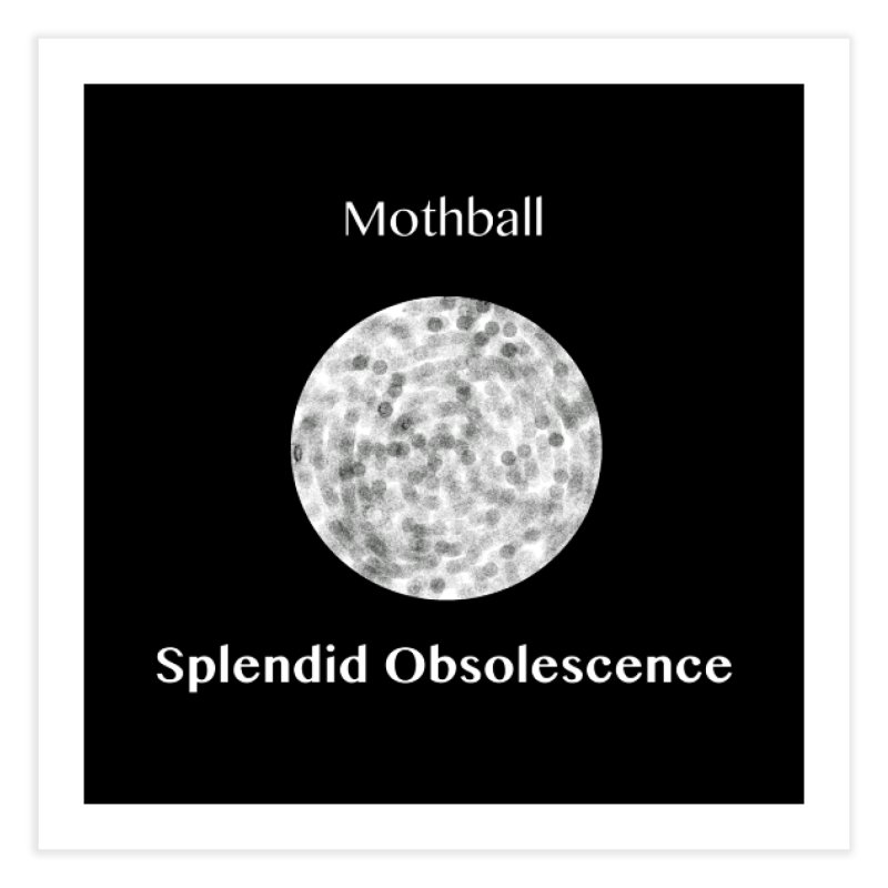 Mothball Album Cover - Splendid Obsolescence Home Fine Art Print by Splendid Obsolescence