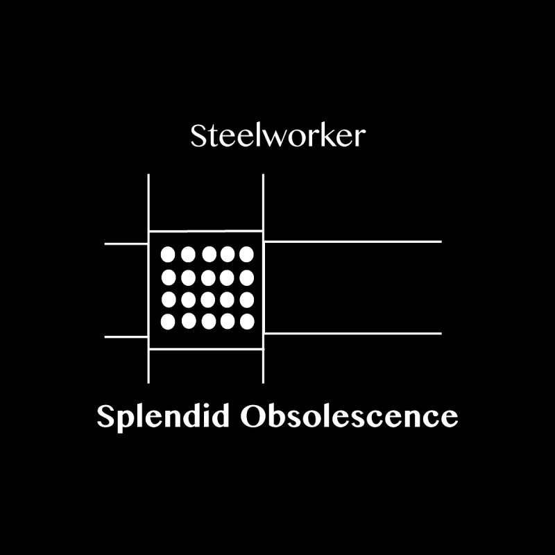 Steelworker Album Cover - Splendid Obsolescence Accessories Button by Splendid Obsolescence
