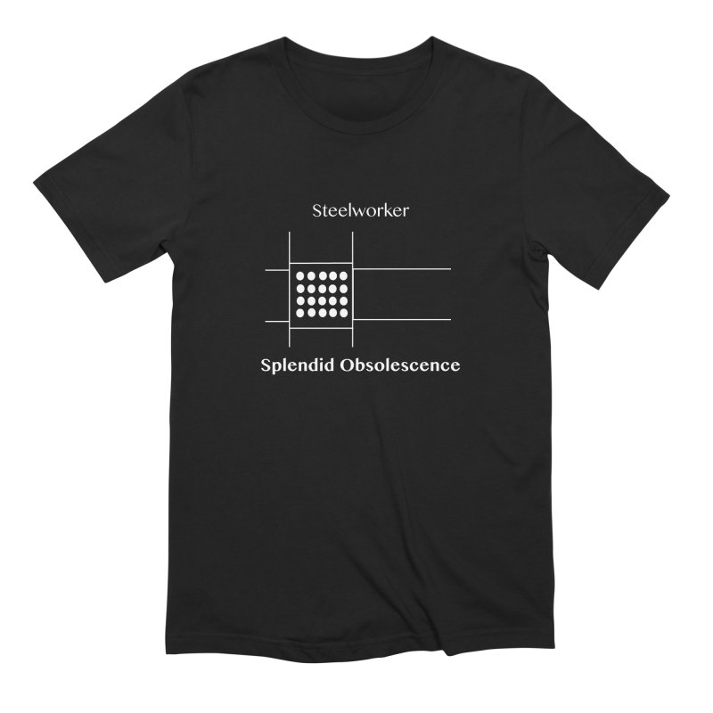 Steelworker Album Cover - Splendid Obsolescence Men's Extra Soft T-Shirt by Splendid Obsolescence
