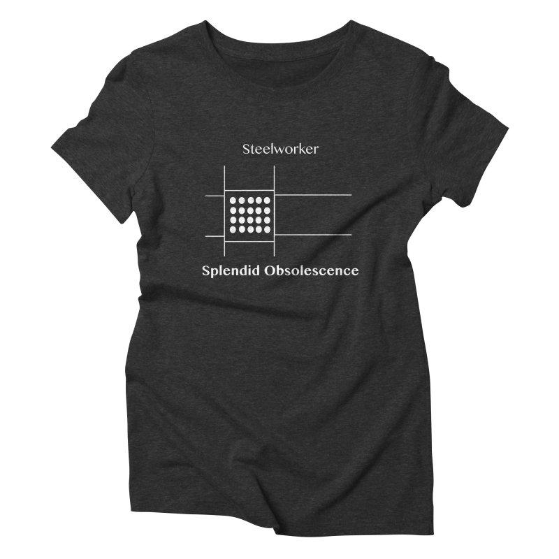 Steelworker Album Cover - Splendid Obsolescence Women's Triblend T-Shirt by Splendid Obsolescence