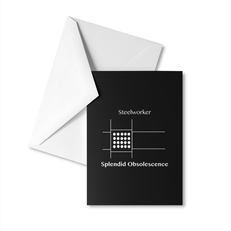 Steelworker Album Cover - Splendid Obsolescence Accessories Greeting Card by Splendid Obsolescence