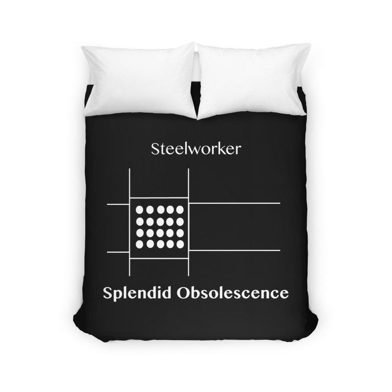 Steelworker Album Cover - Splendid Obsolescence Home Duvet by Splendid Obsolescence