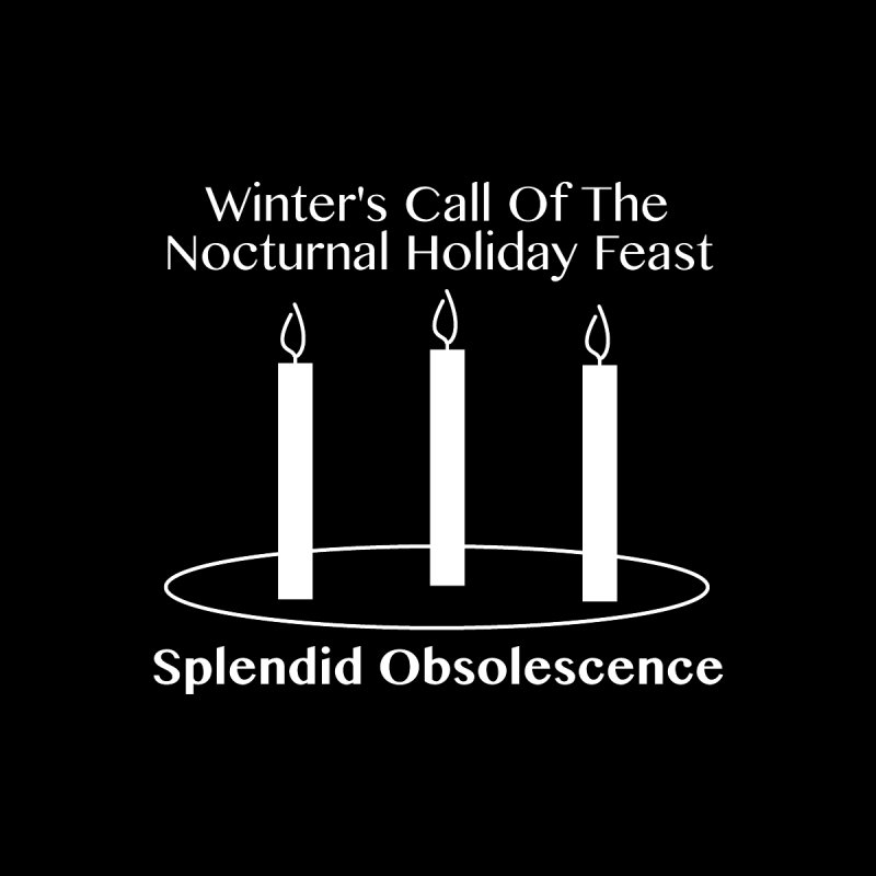 Winter's Call of the Nocturnal Holiday Feast Album Cover - Splendid Obsolescence Men's T-Shirt by Splendid Obsolescence