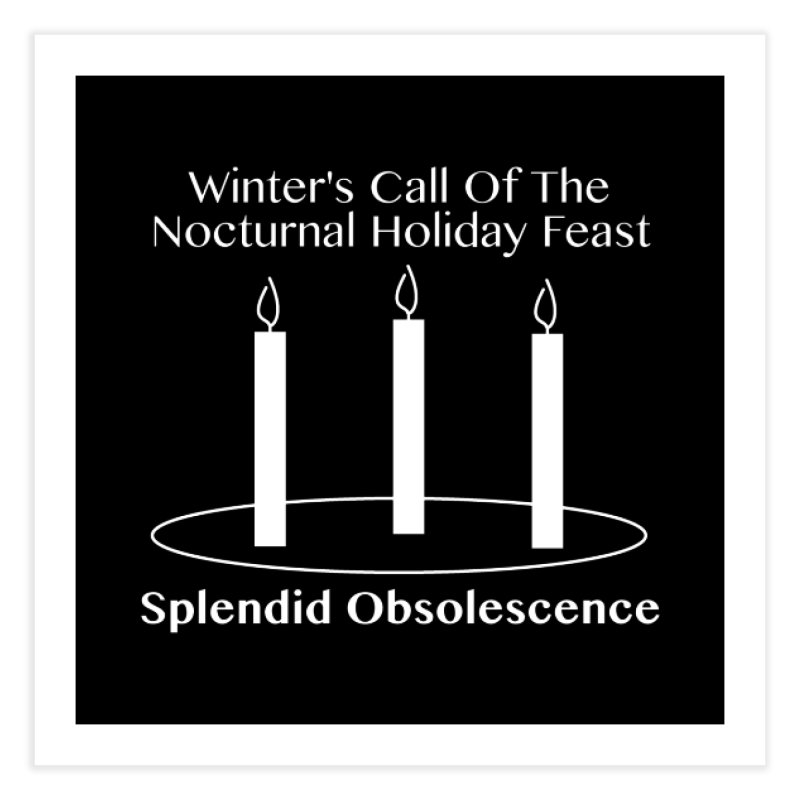 Winter's Call of the Nocturnal Holiday Feast Album Cover - Splendid Obsolescence Home Fine Art Print by Splendid Obsolescence
