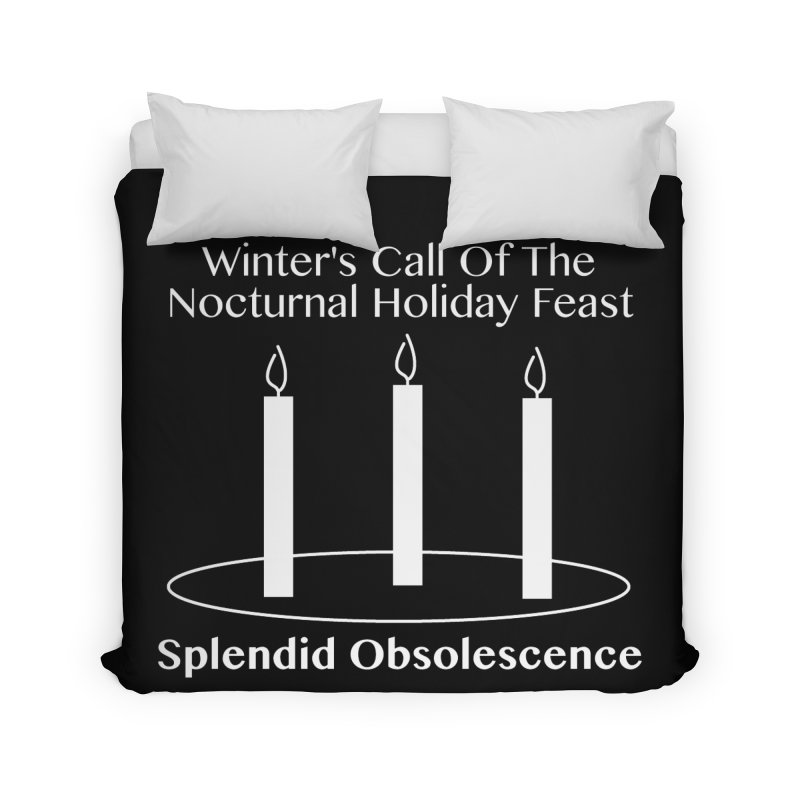 Winter's Call of the Nocturnal Holiday Feast Album Cover - Splendid Obsolescence Home Duvet by Splendid Obsolescence