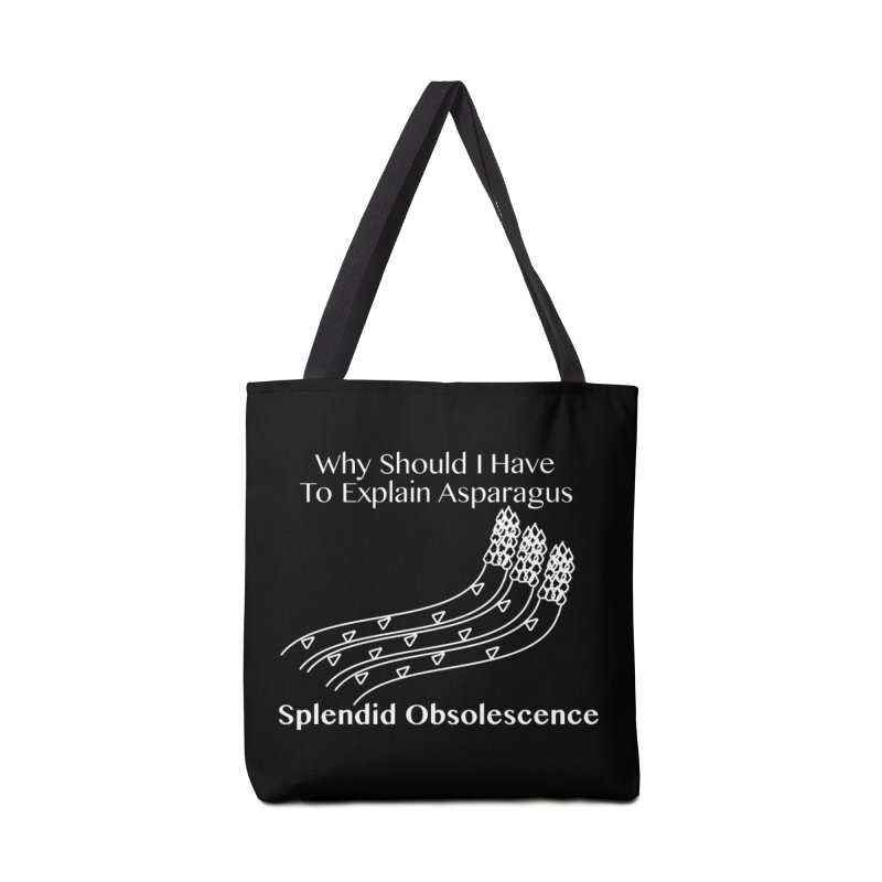 Why Should I Have To Explain Asparagus Album Cover - Splendid Obsolescence Accessories Tote Bag Bag by Splendid Obsolescence