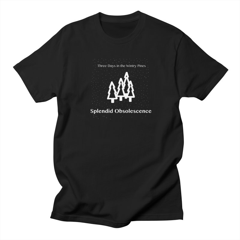 Three Days In The Wintry Pines Album Cover - Splendid Obsolescence Men's Regular T-Shirt by Splendid Obsolescence